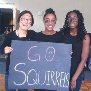 Getting ready for Spirit Day: Go squirrels!
